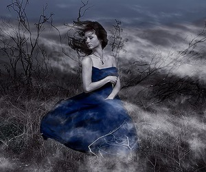 blue, cloud, and model image