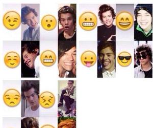 Harry Styles, one direction, and emoji image