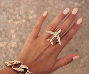 airplane, nails, and pink image