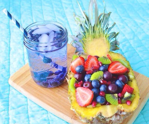 food, pineapple, and water image