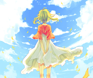 gumi, anime, and sky image
