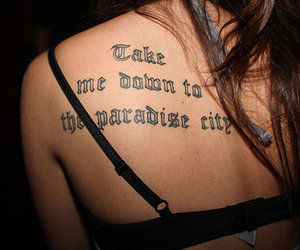 Guns N Roses, tattoo, and paradise city image