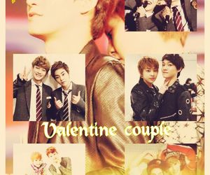 Chen, exo, and valentine couple image