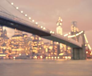 light, city, and bridge image