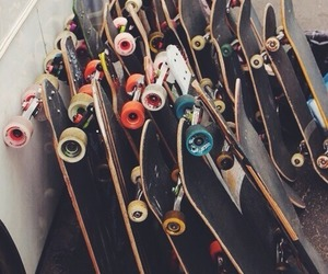 skate, skateboard, and hipster image