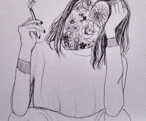 cigarette and drawing image