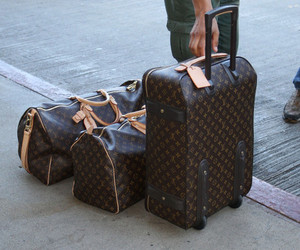 bag, Louis Vuitton, and travel image