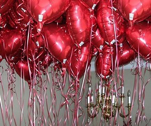 balloons, love, and romantic image