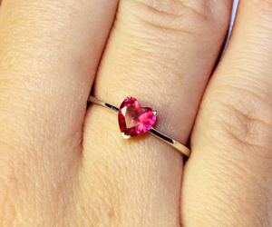 heart promise ring and ruby red promise ring image