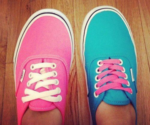 vans, pink, and blue image