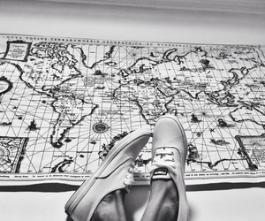 atlas, shoes, and map image