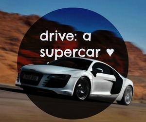 before i die, drive, and supercar image