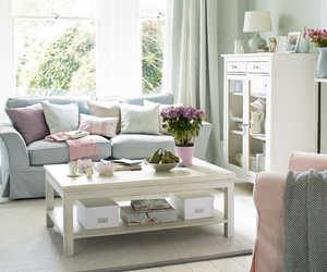 home, interior, and pastel image