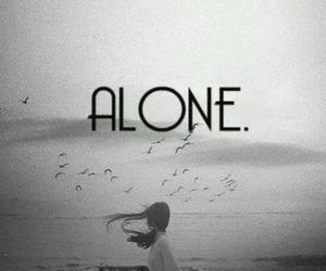 alone and girl image