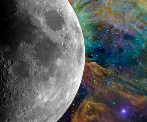 colors, cool, and moon image