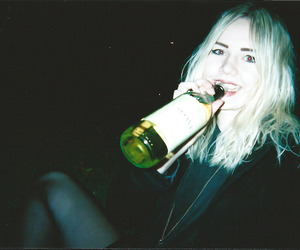 grunge, girl, and alcohol image