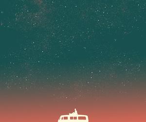 stars, sky, and art image