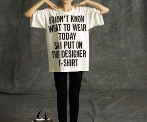 fashion, Moschino, and t-shirt image