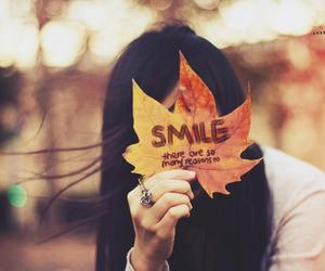 smile, autumn, and quotes image