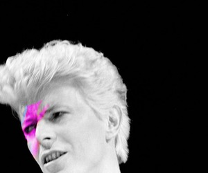 david bowie, glam, and pink image