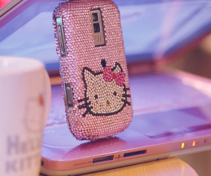 hello kitty, pink, and blackberry image