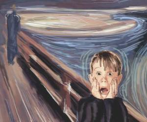 funny, home alone, and art image