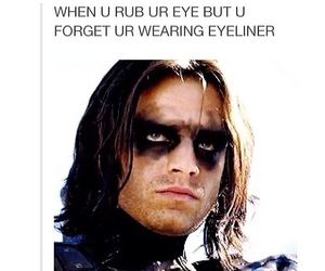 funny, eyeliner, and eyes image
