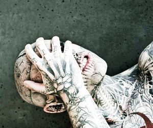 tattoo, boy, and zombie boy image