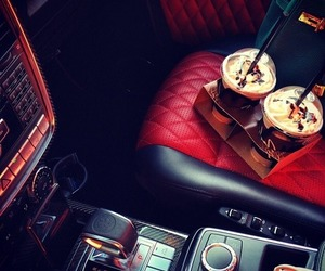 car, luxury, and coffee image