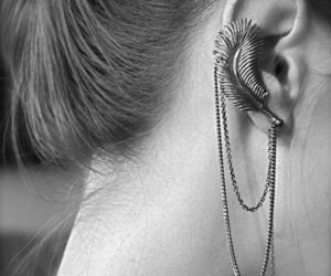 ear, feather, and woman image