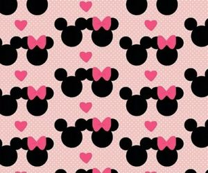 mickey, minnie, and pink image