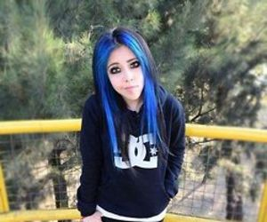 blue, colour, and girl image