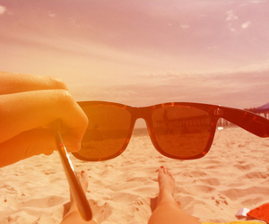 beach, sunglasses, and rb image