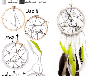 beautiful, diy, and dreamcatcher image