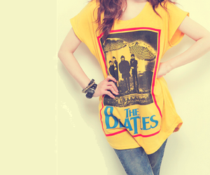 the beatles, girl, and beatles image