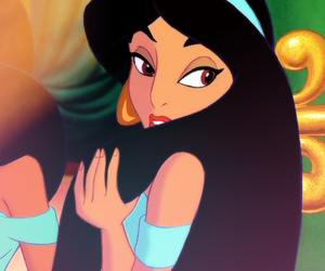 aladdin, jazmin, and eyes image