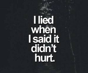 hurt, quotes, and lies image