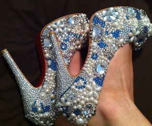 bling, blue, and diy image