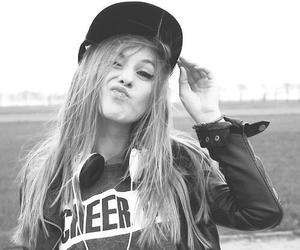 girl, black and white, and swag image