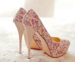 flower, girls, and heels image
