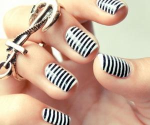 black and white, nail art, and nails image