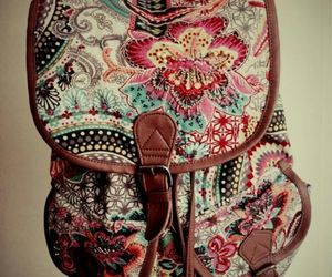 bag, floral, and pretty image