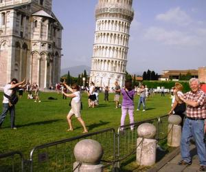 Pisa, tourists, and tower image