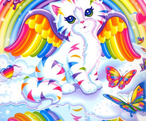 lisa frank, cat, and colorful image