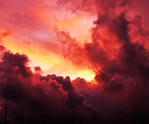 nature, red, and sky image