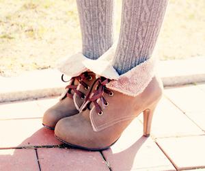 brown, heels, and pumps image