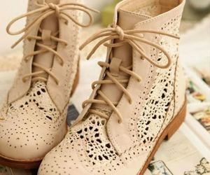 boots, cute, and cream image