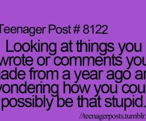 teenager post, comments, and stupid image