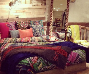 bedroom, boho, and hippie image