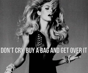 bag, quote, and cry image